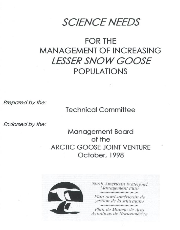 Publication du rapport sur les besoins de la science pour la gestion des oies blanches surabondantes